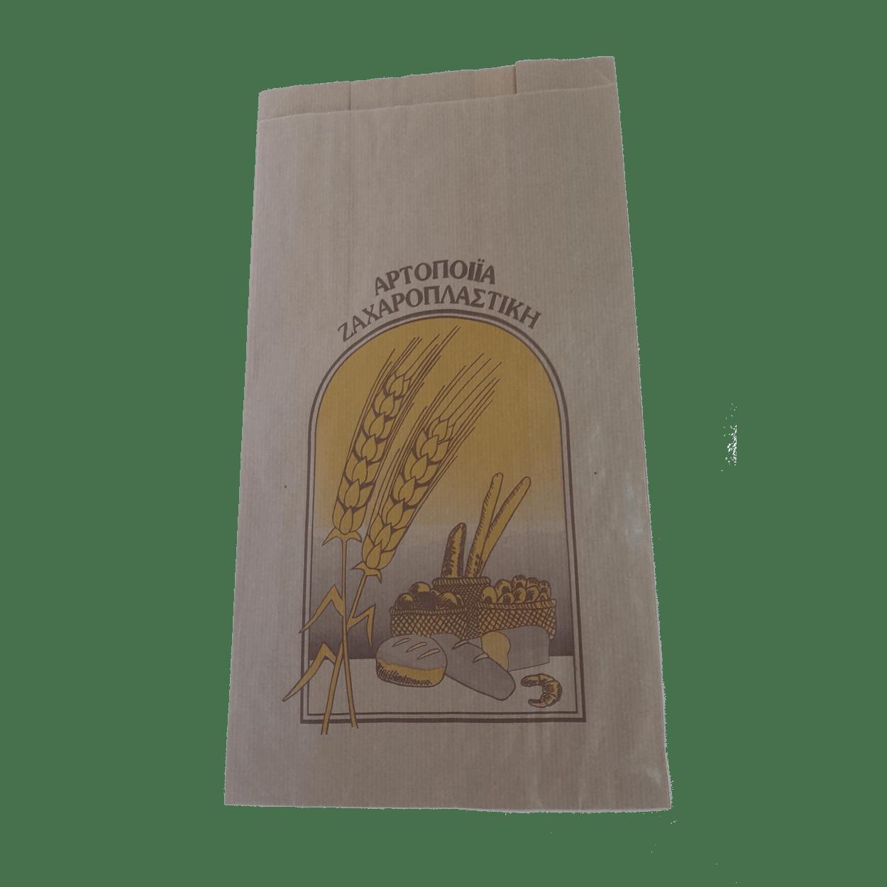 ΧΑΡΤΟΣΑΚΟΥΛΑ ΑΡΤΟΠΟΙΙΑΣ GREASEPROOF 20+11×34 ΚΡΑΦΤ(ΣΤΑΧY)
