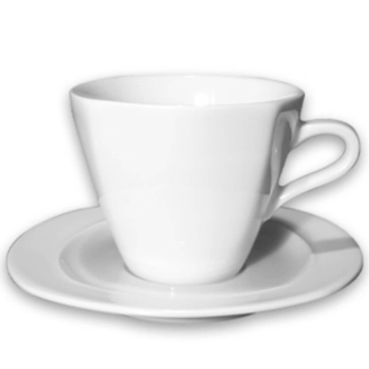 ΦΛIΤΖΑΝΙ+ΠΙΑΤ ΠΟΡΣΕΛ TEA CAPPUC 8γωνο White OGGI