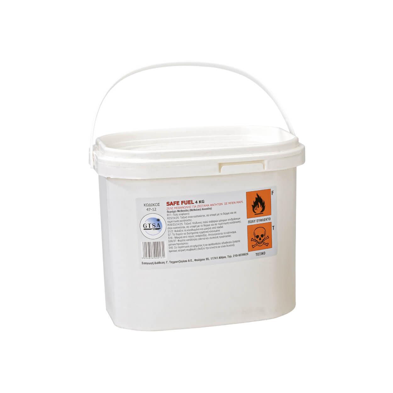 ΣΤΕΡΕΟΠΟΙΗΜΕΝΗ ΜΕΘΑΝΟΛΗ ΓΙΑ ΧΡΗΣΗ ΣΕ ΜΠΕΝ ΜΑΡΙ, SAFE FUEL, 4kg (5lt)