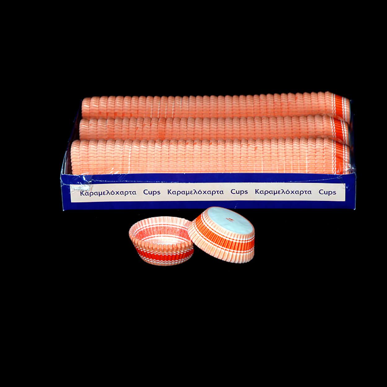ΣΤΡΟΓΓΥΛΟ ΚΑΡΑΜΕΛΟΧΑΡΤΟ Φ49xΦ98×24,5mm ΛΕΥΚΟ-ΠΟΡΤΟΚΑΛΙ